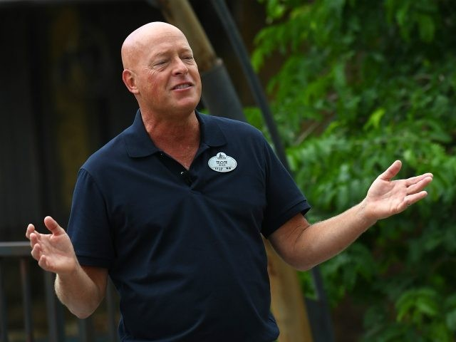 ORLANDO, FLORIDA - AUGUST 28: Bob Chapek Chairman of Parks, Experiences, and Products for the Walt Disney Company speaks during the Star Wars: Galaxy's Edge Dedication Ceremony at Disney's Hollywood Studios on August 28, 2019 in Orlando, Florida. (Photo by Gerardo Mora/Getty Images)