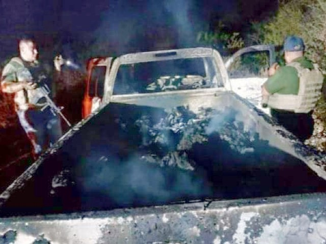GRAPHIC: Cartel Gunmen Torch 19 Bodies in Mexico near Texas Border