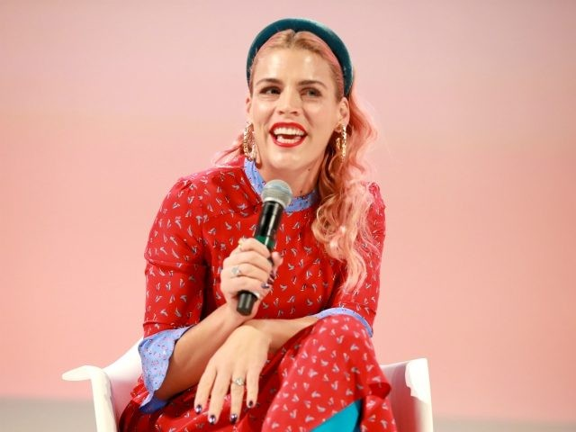 LOS ANGELES, CALIFORNIA - NOVEMBER 02: Busy Philipps speaks on stage at the Teen Vogue Summit 2019 at Goya Studios on November 02, 2019 in Los Angeles, California. (Photo by Rich Fury/Getty Images for Teen Vogue)