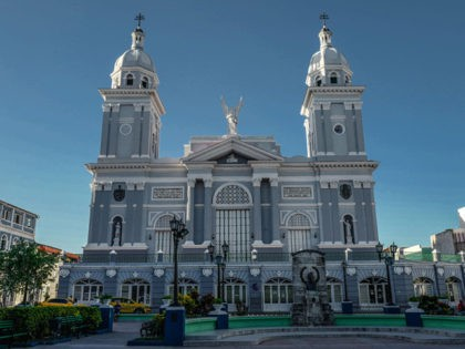 View of the Cathedral of Our Lady of the Assumption in Santiago de Cuba, eastern Cuba on September 29, 2018. (Photo by ADALBERTO ROQUE / AFP) (Photo credit should read ADALBERTO ROQUE/AFP via Getty Images)
