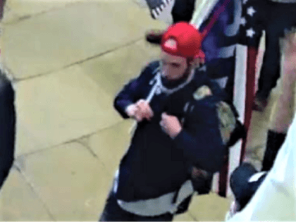 The Department of Justice charged Garret Miller for allegedly threatening to assassinate Congresswoman Alexandria Ocasio-Cortez during the January 6 attack on the U.S. Capitol. (Photo: U.S. Capitol Security Video/Department of Justice)