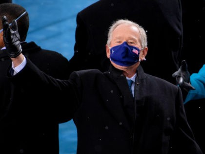 , DC - JANUARY 20: Former President George W. Bush arrives at the inauguration of U.S. President-elect Joe Biden on the West Front of the U.S. Capitol on January 20, 2021 in Washington, DC. During today's inauguration ceremony Joe Biden becomes the 46th president of the United States. (Photo by …
