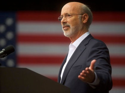 PHILADELPHIA, PA - SEPTEMBER 21: Pennsylvania Governor Tom Wolf addresses supporters before former President Barack Obama speaks during a campaign rally for statewide Democratic candidates on September 21, 2018 in Philadelphia, Pennsylvania. Midterm election day is November 6th. (Photo by Mark Makela/Getty Images)