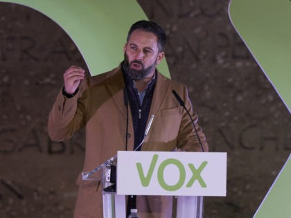MADRID, SPAIN - NOVEMBER 08: President of far right party Vox, Santiago Abascal speaks during a rally ahead of the general elections on November 08, 2019 in Madrid, Spain. Spain holds its fourth general election in four years on Sunday 10th November in a hope to break prolonged political deadlock. …