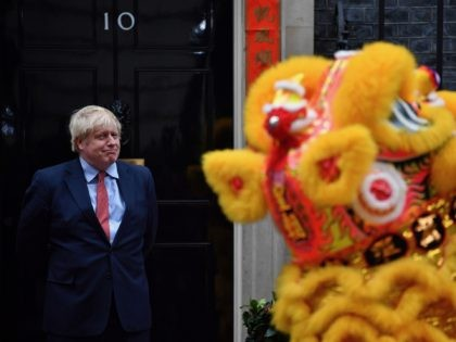 Britain's Prime Minister Boris Johnson reacts as he hosts a Chinese New Year reception at 10 Downing Street in central London on January 24, 2020. (Photo by Ben STANSALL / AFP) (Photo by BEN STANSALL/AFP via Getty Images)