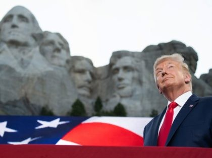 TOPSHOT - US President Donald Trump arrives for the Independence Day events at Mount Rushmore National Memorial in Keystone, South Dakota, July 3, 2020. (Photo by SAUL LOEB / AFP) (Photo by SAUL LOEB/AFP via Getty Images)