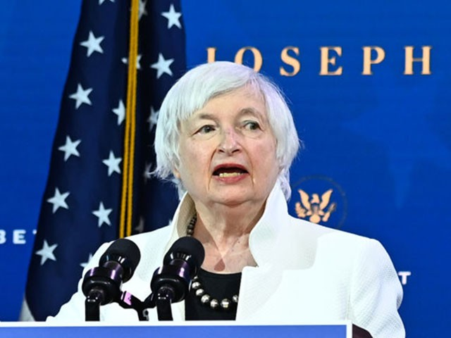 Treasury secretary nominee Janet Yellen speaks after US President-elect Joe Biden announced his economic team at The Queen Theater in Wilmington, Delaware, on December 1, 2020. (Photo by Chandan KHANNA / AFP) (Photo by CHANDAN KHANNA/AFP via Getty Images)