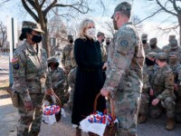 Jill Biden Delivers Cookies to National Guard Troops