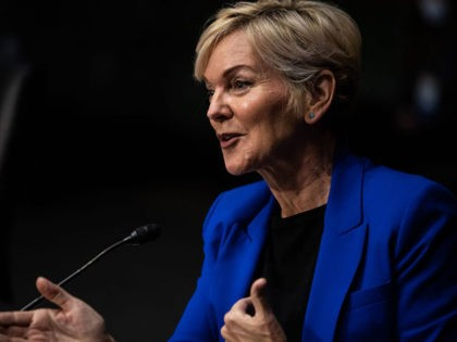 Former Michigan Governor Jennifer Granholm speaks during the Senate Energy and Natural Resources Committee hearing to examine her nomination to be Secretary of Energy, on Capitol Hill in Washington, DC, on January 27, 2021. (Photo by Graeme Jennings / POOL / AFP) (Photo by GRAEME JENNINGS/POOL/AFP via Getty Images)