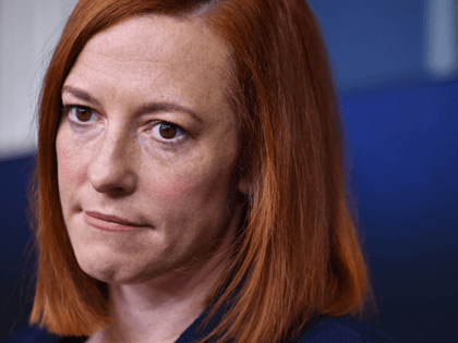 White House Press Secretary Jen Psaki speaks during a press briefing on January 29, 2021, in the Brady Briefing Room of the White House in Washington, DC. (Photo by Nicholas Kamm / AFP) (Photo by NICHOLAS KAMM/AFP via Getty Images)