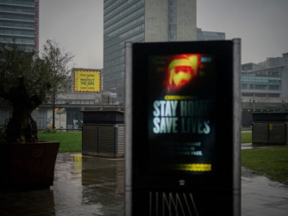 MANCHESTER, UNITED KINGDOM - JANUARY 13: A government pandemic poster looks over the near deserted Manchester Piccadilly Gardens during lockdown three on January 13, 2021 in Manchester, United Kingdom. On Monday January 4th England entered its third lockdown due to the Coronavirus pandemic. Schools and colleges moved to online learning, …