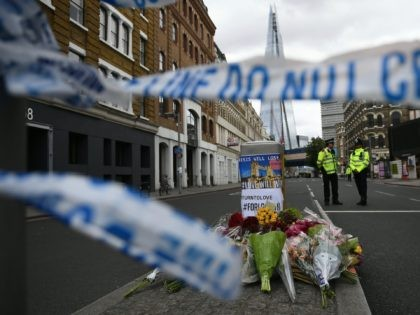 British police on Monday made several arrests in two dawn raids following the June 3 London attacks, claimed by the Islamic State group which left seven people dead. / AFP PHOTO / Justin TALLIS (Photo credit should read JUSTIN TALLIS/AFP via Getty Images)