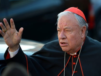 Mexican cardinal Juan Iniguez Sandoval arrives for talks ahead of a conclave to elect a new pope on March 4, 2013 at the Vatican. The Vatican meetings will set the date for the start of the conclave this month and help identify candidates among the cardinals to be the next …