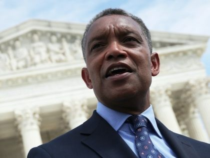 WASHINGTON, DC - SEPTEMBER 09: Washington, DC Attorney General Karl Racine speaks after a news conference in front of the U.S. Supreme Court September 9, 2019 in Washington, DC. Fifty state attorneys general are joining together to investigate Google's possible antitrust violations. (Photo by Alex Wong/Getty Images)
