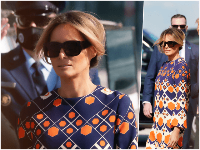 Former First Lady Melania Trump channeled a kind of relaxed, …