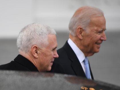 Mike Pence and Joe Biden (Jim Watson / AFP / Getty)