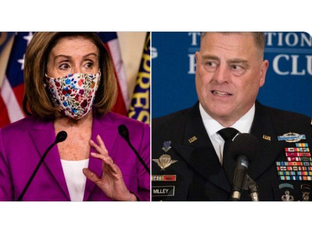 Nancy Pelosi and Mark Milley