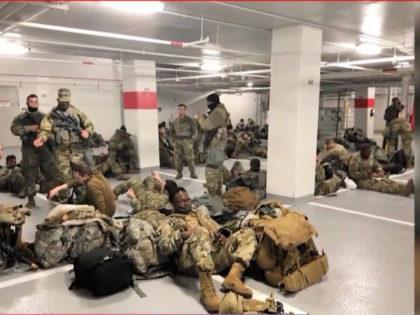 National Guard in D.C. Parking Garage