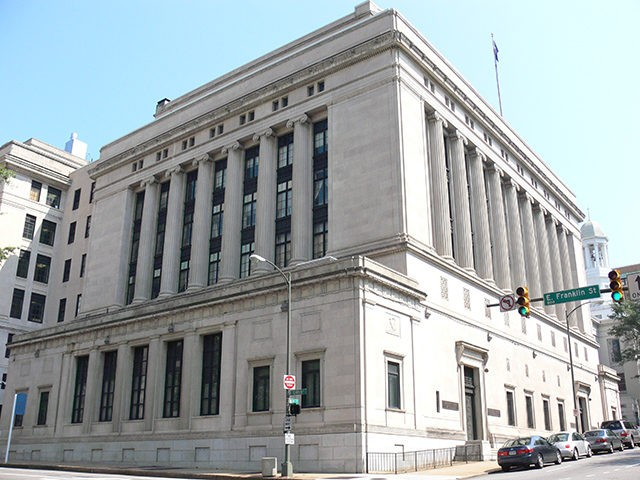 The Supreme Court of Virginia Building, adjacent to Capitol Square in Richmond, Virginia
