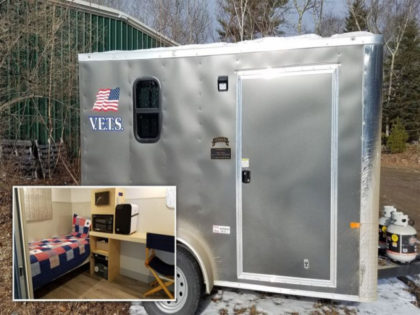 VIDEO — Maine Veteran Builds Temporary Housing for Homeless Veterans: 'We're Keeping Them Alive'