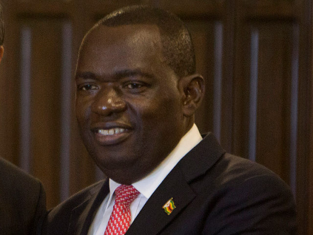 FILE — In this Jan, 12, 2020 file photo, Zimbabwe's Foreign Minister Sibusiso Moyo in Harare, Zimbabwe. Sibusiso Moyo, who gained prominence in 2017 as the military general who announced the coup against then-president Robert Mugabe on television, has died from COVID-19, the government announced Wednesday, Jan 20,2021. (AP Photo/Tsvangirayi …