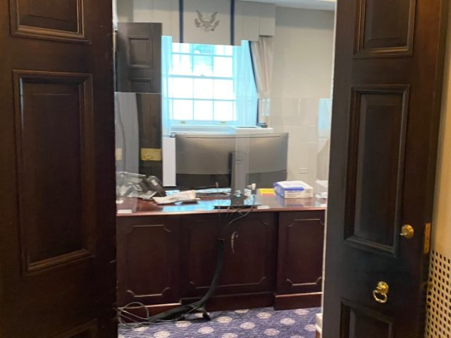 Biden Administration Installs 'Plexiglass Germ Shields' at White House Desks