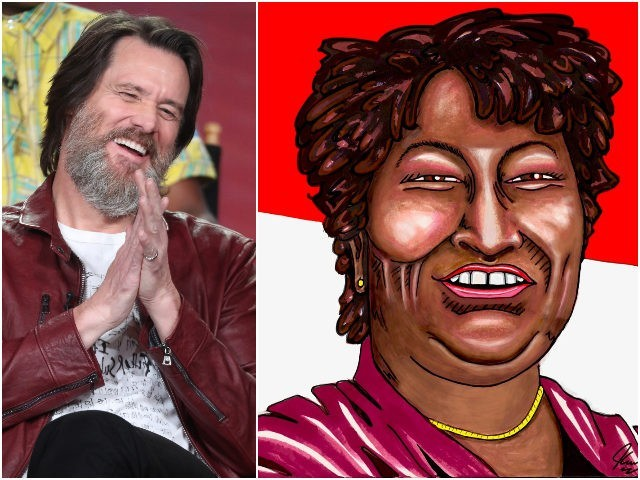 Jim Carrey Gushes over 'Superstar Stacey Abrams: She 'Rescued Georgia from the Red Hats'