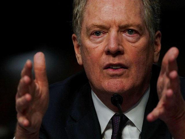 US Trade Representative Robert Lighthizer testifies at a Senate Finance Committee hearing on the Presidents 2020 trade policy agenda, on Capitol Hill, June 17, 2020, in Washington, DC. (Photo by Anna Moneymaker / POOL / AFP) (Photo by ANNA MONEYMAKER/POOL/AFP via Getty Images)