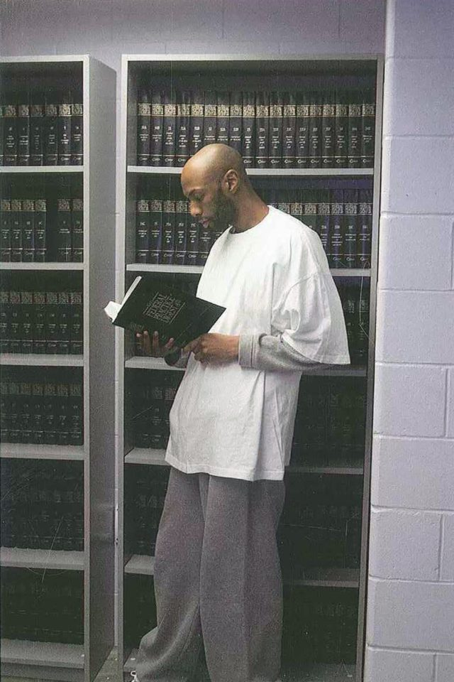 This 2015 photo provided by Shawn Nolan Chief, Capital Habeas Unit Community Federal Defender Office for the Eastern District of Pennsylvania, shows Dustin Higgs at the Federal Prison in Terre Haute, Ind. Higgs, the last federal inmate facing execution before President Donald Trump leaves office was sentenced to death for …