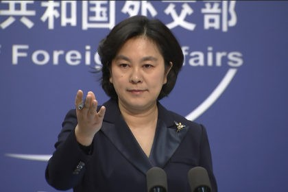 """Chinese Foreign Ministry spokesperson Hua Chunying speaks during the daily press briefing at the Foreign Ministry in Beijing on Wednesday, Jan. 20, 2021. China's Foreign Ministry described outgoing U.S. Secretary of State Mike Pompeo on Wednesday as a """"doomsday clown"""" and said his designation of China as a perpetrator of …"""