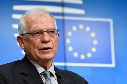European Union foreign policy chief Josep Borrell talks to journalists during a news conference following an EU Foreign Affairs minister meeting at the European Council building in Brussels, Monday, Jan. 25, 2021. Britain has sparked a post-Brexit spat with the European Union by declining to grant the bloc's first-ever ambassador …