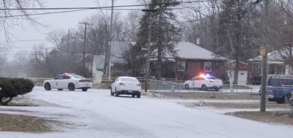 Indianapolis Metropolitan Police Department work the scene Sunday, Jan. 24, 2021 in Indianapolis where five people, including a pregnant woman, were shot to death early Sunday inside an Indianapolis home. Th pregnant woman who was taken to an area hospital, both she and the unborn child died despite life-saving efforts. …
