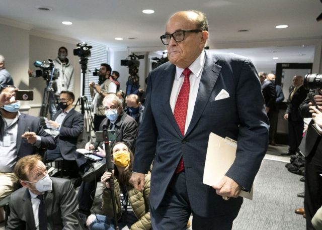 New York State Bar Association seeks Giuliani ban over 'combat' remarks class=