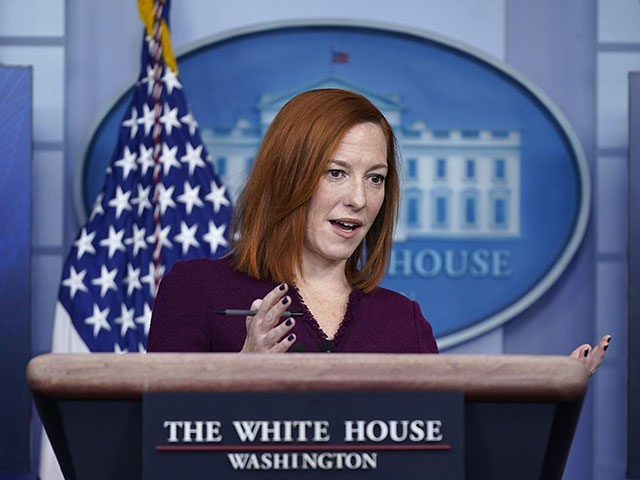 White House press secretary Jen Psaki speaks during a press briefing at the White House, Tuesday, Feb. 9, 2021, in Washington. (AP Photo/Patrick Semansky)