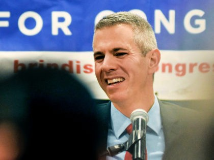 FILE - In this Nov. 6, 2018 file photo, Democratic Congressional candidate Anthony Brindisi reacts during a speech in Utica, N.Y. On Tuesday, Dec. 1, 2020. Former U.S. Rep. Claudia Tenney appeared on the verge of recapturing her old seat in Congress as election officials wrapped up counting ballots Monday, …