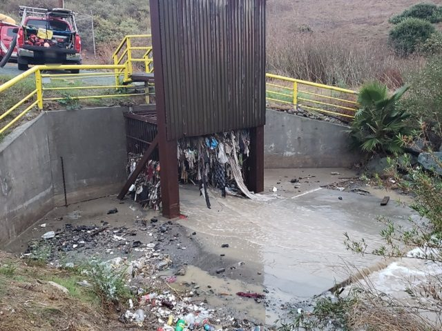 One migrant died, seven others rescued from this clogged cross-border drainage culvert. (Photo: U.S. Border Patrol/San Diego Sector)