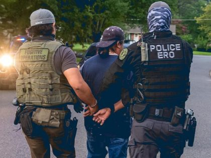 ICE Enforcement and Removal Operations officers arrest a migrant pending for deportation. (Photo: U.S. Immigration and Customs Enforcement)