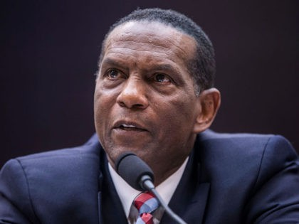 WASHINGTON, DC - JUNE 19: Former NFL player Burgess Owens testifies during a hearing on slavery reparations held by the House Judiciary Subcommittee on the Constitution, Civil Rights and Civil Liberties on June 19, 2019 in Washington, DC. The subcommittee debated the H.R. 40 bill, which proposes a commission be …