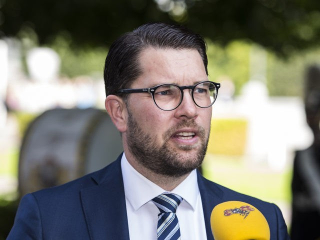 STOCKHOLM, SWEDEN - SEPTEMBER 10: Jimmie Akesson, leader of the Sweden Democrats party, arrives at the Swedish Parliament House for the opening of the new parliamentary session on September 10, 2019 in Stockholm, Sweden. (Photo by Michael Campanella/Getty Images)