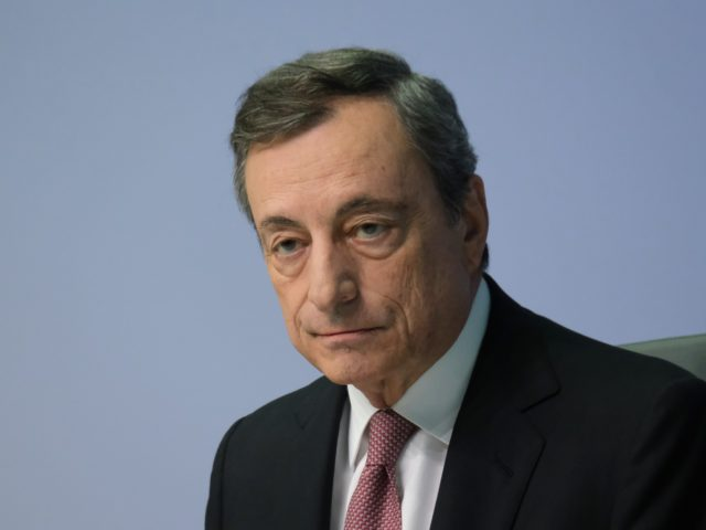 FRANKFURT AM MAIN, GERMANY - SEPTEMBER 12: Mario Draghi, President of the European Central Bank, speaks to the media following a meeting of the ECB governing board on September 12, 2019 in Frankfurt am Main, Germany. Draghi announced the board had agreed to drop the ECB's key rate by 10 …