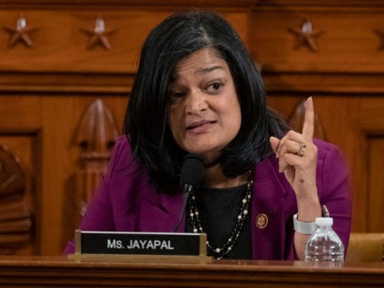WASHINGTON, DC - DECEMBER 12: Representative Pramila Jayapal, a Democrat from Washington, speaks during a House Judiciary Committee hearing December 12, 2019 in Washington, DC. The articles of impeachment charge Trump with abuse of power and obstruction of Congress. House Democrats claim that Trump posed a 'clear and present danger' …