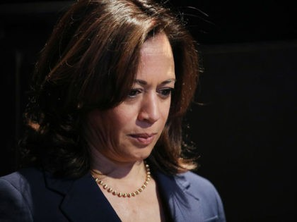 LOS ANGELES, CALIFORNIA - NOVEMBER 17: Democratic presidential candidate Sen. Kamala Harris (D-CA) waits to speak at a Democratic presidential forum on Latino issues at Cal State LA on November 17, 2019 in Los Angeles, California. The presidential primary in California will be held on March 3, 2020. (Photo by …