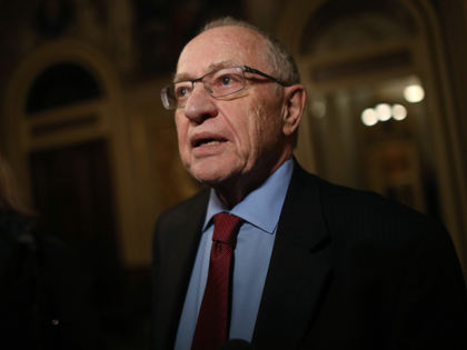 Attorney Alan Dershowitz, a member of President Donald Trump's legal team, speaks to the press in the Senate Reception Room during the Senate impeachment trial at the U.S. Capitol on January 29, 2020 in Washington, DC. Wednesday begins the question-and-answer phase of the impeachment trial that will last up to …