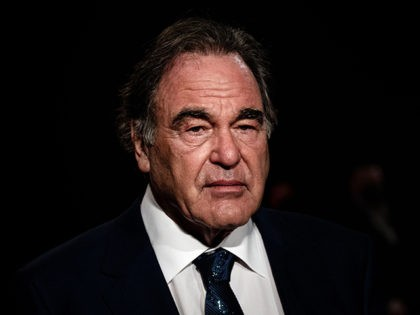 US film director Oliver Stone arrives for the opening ceremony of the 12th edition of the Lumiere Film Festival in Lyon, central eastern France, on October 10, 2020. (Photo by JEFF PACHOUD / AFP) (Photo by JEFF PACHOUD/AFP via Getty Images)