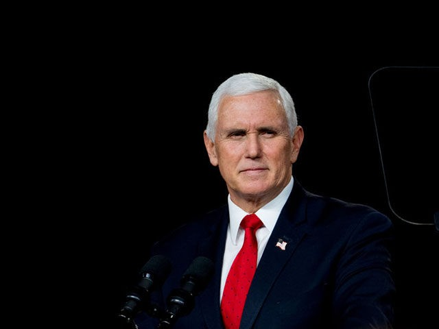MILNER, GA - JANUARY 04: U.S. Vice President Mike Pence speaks during a visit to Rock Springs Church to campaign for GOP Senate candidates on January 4, 2021 in Milner, Georgia. Tomorrow is the final day for Georgia voters to vote for U.S. Senators Republican incumbents David Perdue and Kelly …