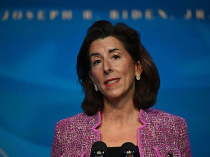 Infrastructure Rhode Island Governor Gina Raimondo, nominee for Secretary of Commerce, speaks after being nominated by US President-elect Joe Biden at The Queen theater January 8, 2021 in Wilmington, Delaware. - Biden and Harris announced on January 8, 2021 the following nominees for their economic and jobs team: for Secretary …