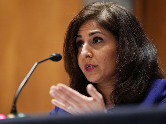 Neera Tanden, director of the Office and Management and Budget (OMB) nominee testifies before the Senate Homeland Security and Government Affairs committee on her nomination to become the director of the Office of Management and Budget (OMB), during a hearing at the US Capitol in Washington, DC on February 9, …