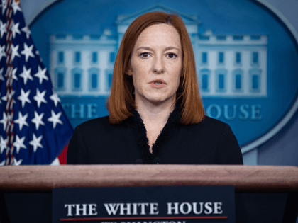 White House Press Secretary Jen Psaki speaks during a press briefing on February 11, 2021, in the Brady Briefing Room of the White House in Washington, DC. (Photo by SAUL LOEB / AFP) (Photo by SAUL LOEB/AFP via Getty Images)