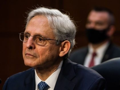 Judge Merrick Garland testifies before a Senate Judiciary Committee hearing on his nomination to be US Attorney General on Capitol Hill in Washington, DC on February 22, 2021. (Photo by Demetrius Freeman / POOL / AFP) (Photo by DEMETRIUS FREEMAN/POOL/AFP via Getty Images)