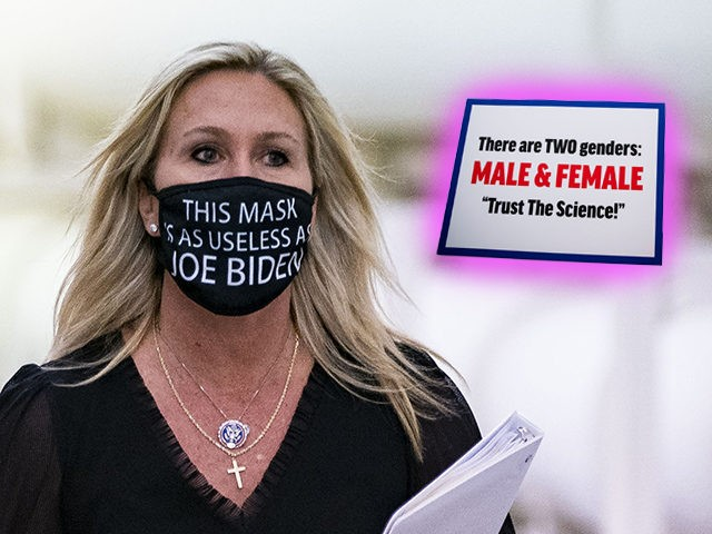 Marjorie Taylor Greene Feuds with Far-Left Hallmate: 'There Are Two Genders… Trust the Science'